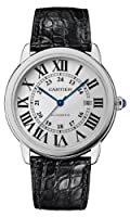 Cartier Ronde Solo Silver Dial Mechanical Mens Watch W6701010 from Cartier
