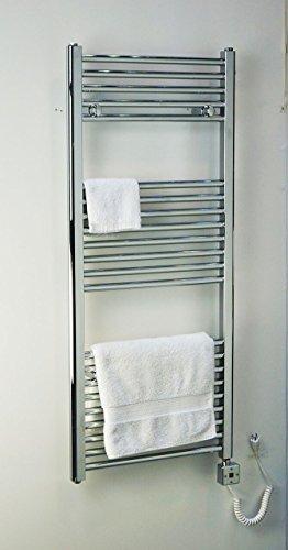 Electric Towel Warmer for Bathroom Wall Mount Heated Rail Towel & Space Heater R0102C-300. CDM