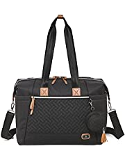Diaper Bag Tote with Pacifier Case and Changing Pad, Dikaslon Large Travel Diaper Tote for Mom and Dad