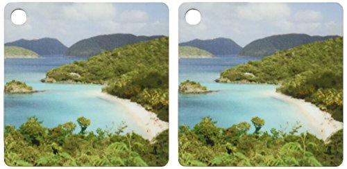 (3dRose USVI, St. John, Trunk Bay, Virgin Islands NP-CA37 CMI0147 - Cindy Miller Hopkins - Key Chains, 2.25 x 4.5 inches, set of 2 (kc_70005_1))