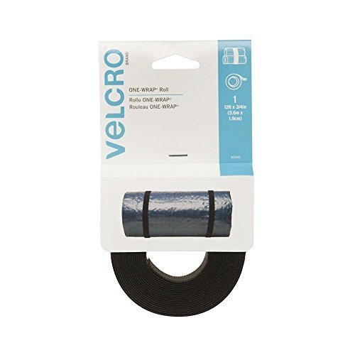 (Velcro 90340 2 Pack 12ft. x 3/4in. One Wrap Rolls, Black)