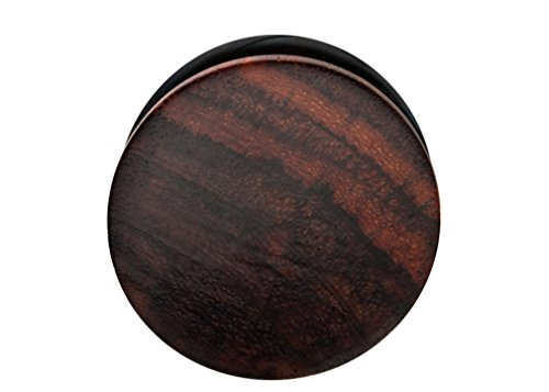 Zaya Body Jewelry Pair of Organic Sono Wood Hand Carved Ear Plugs Gauges 6g 4g 2g 00g 7/16 9/16 5/8 3/4 7/8 1 Inch (6g) (Sonos 1 Best Price)