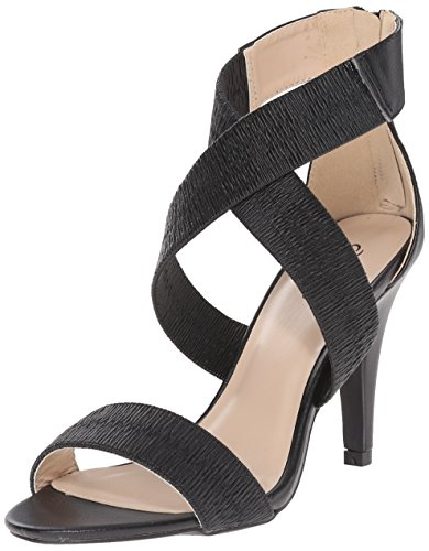 Qupid Women's ILICIA-57X Dress Sandal - Black - 8 B(M) US