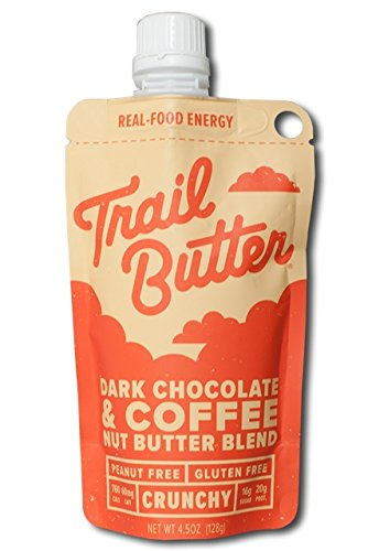 TRAIL BUTTER Dark Chocolate & Coffee – Paleo Nut Butter Blend - 4.5 oz - 6 pack