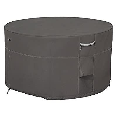 Classic Accessories Ravenna 42 in. Round Fire Pit Table Cover