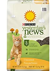 PURINA Yesterday's News Non Clumping Paper Cat Litter, Unscented Low Tracking Cat Litter in Recyclable Box - 30 lb. Bag