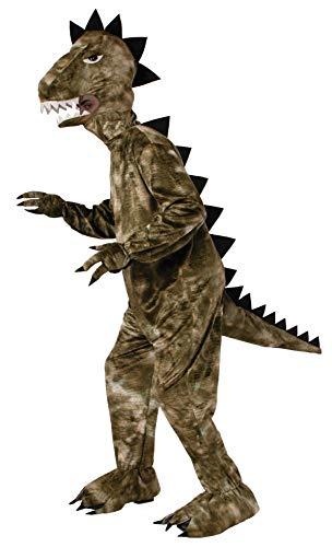 Forum Novelties Men's Dinosaur Plush Mascot Costume, Green, One Size]()