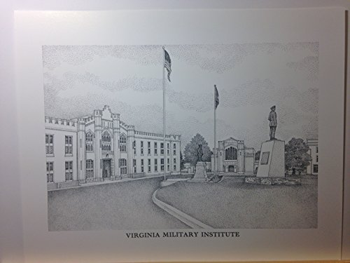 Virginia Military Institute pen and ink 11''x14'' print by Campus Scenes