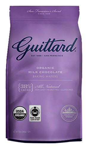 Guittard Organic Milk Chocolate Baking Wafers, 38% by Guittard Chocolate
