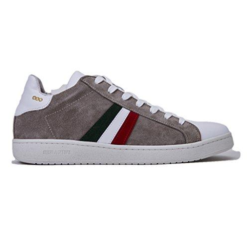 Serafini Sneakers Uomo BORGBOR01*/Beige, con Banda Italia, Colore Beige, Nuova Collezione Primavera Estate 2018
