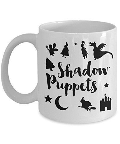Puppeteering Coffee Mug, Best Funny Unique Shadow Puppet Tea Cup Perfect Gift Idea For Men Women - Shadow Puppet fairy tale halloween -