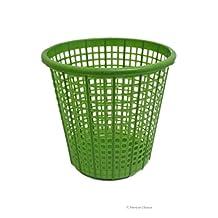 10L Green Grid Pattern Plastic Kids Bathroom Room Waste Basket Trash Garbage Can