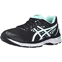 ASICS Women's Gel-Excite 4 Running Shoe, Black/White/Mint, 8.5 M US