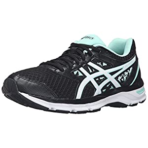 414OMtBRXuL. SS300  - ASICS Women's Gel-Excite 4 Running Shoe (9 W US, Black/White/Mint)