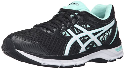 ASICS Women's Gel-Excite 4 Running Shoe, Black/White/Mint, 8 M US
