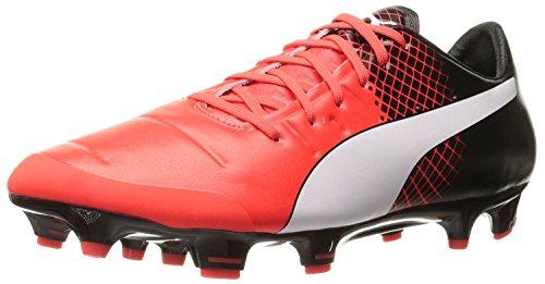 Puma Mens Evopower 2.3 FG Soccer Shoe, Red Blast White, 42 D(M) EU/8 D(M) UK