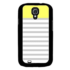 Cool Painting Yellowgrey And White Stripes Samsung Galaxy S4 I9500 Case Fits Samsung Galaxy S4 I9500