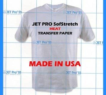 8.5 X 11 Iron (Jetpro Soft Stretch Inkjet Transfer Paper Lights 8.5