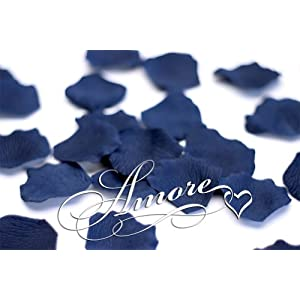 1000 Wedding Silk Rose Petals Navy Blue 2 inch Wide 116