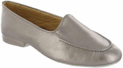 Cincasa Menorca Fornells Damen Hausschuhe aus weichem Leder & bequeme -stiefelchen Zinn