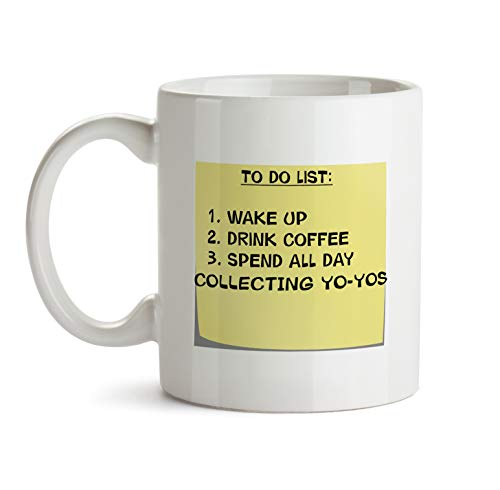 To Do List Gift Mug - AA51 Collecting Yo-Yos Post It Note Coffee Tea Gift Cup For Christmas - Funny Theme Themed Quote Saing I Love Present For Men Women Christmas (Yos Yo Christmas)