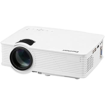 Excelvan EHD09 Mini LED Multimedia Home Theater Projector 1200 Lumens 1080P HDMI/USB/SD/AV/VGA Interface Ideal for Video Games,Movie Night,Family Videos and Pictures,White