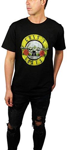 Bullet Mens Tee (Guns N' Roses Mens Vintage Distressed Graphic Tee (Small, Bullet Black))