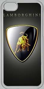 Lamborghini logo Hard Case Cover Back Skin Protector For Apple iPhone 5C