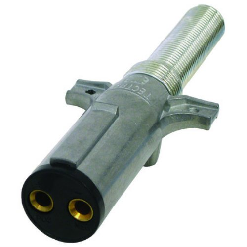 Tectran 670-19SG Dual Pole Plug & Socket Tailgate Connector, Plug Assembly with Spring Guard-Screw Termination