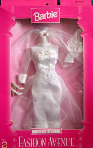 Barbie BRIDAL Fashion Avenue Collection Wedding Gown & Accessories (1997)