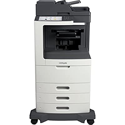 Lexmark MX810DTFE Laser Multifunction Printer - Monochrome - Plain Paper Print - Desktop - Printer, Scanner, Fax, Copier - 63 ppm Mono Print - 1200 x 1200 dpi Print - 63 cpm Mono Copy - Touchscreen - 600 dpi Optical Scan - Automatic Duplex Print - 1750 sh