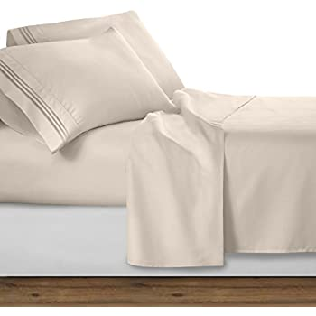 Clara Clark Premier 1800 Collection 4pc Bed Sheet Set   Full (Double) Size,