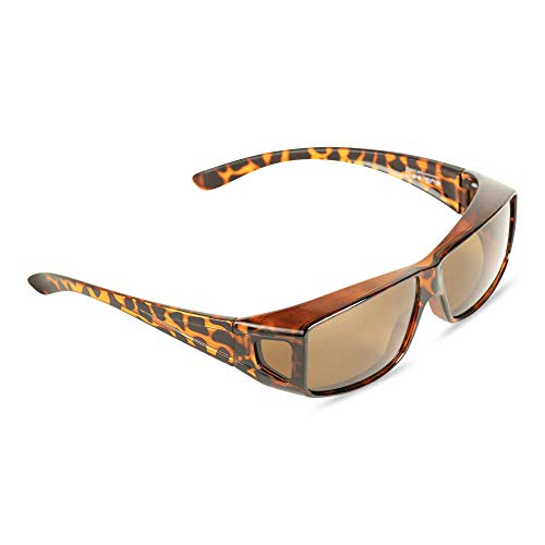Over Glasses Sunglasses- Polarized Fitover Sunglasses with 100% UV Protection for Men or Women - Style 2 - by Pointed Designs ()
