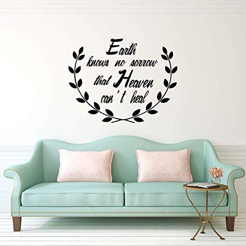 - BYRON HOYLE Heaven Wall Decal Religious Vinyl Quote Lettering - Earth Knows No Sorrow That Heaven Can't Heal - Christian Sympathy Gift