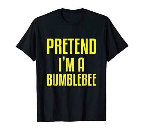 Funny Lazy Halloween T-Shirt PRETEND I'M A BUMBLEBEE Costume ()