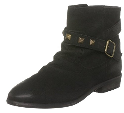 Suede Dune in Head Boots Ankle Heel Heels Over Real Black Low r8r6avqw