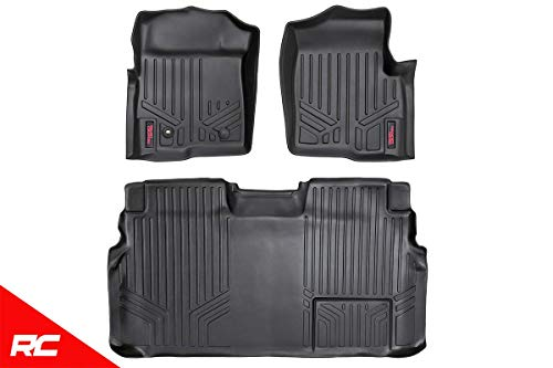 Rough Country Floor Liners (fits) 2009-2012 F150 (F-150) SuperCrew Front/Rear Weather Rugged Floor Mats M-50912