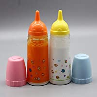 2Pcs Magic Juice and Milk Bottle Set Baby Dolls Accessories Educational Role Playing Props Kids Toys Gifts