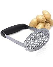 Aardappelstamper Roestvrij Staal, Stamper met Antislip Handvat, Pureestamper Groentestamper, Potato Masher, voor Aardappelpuree, Jam, Groenten en Fruit