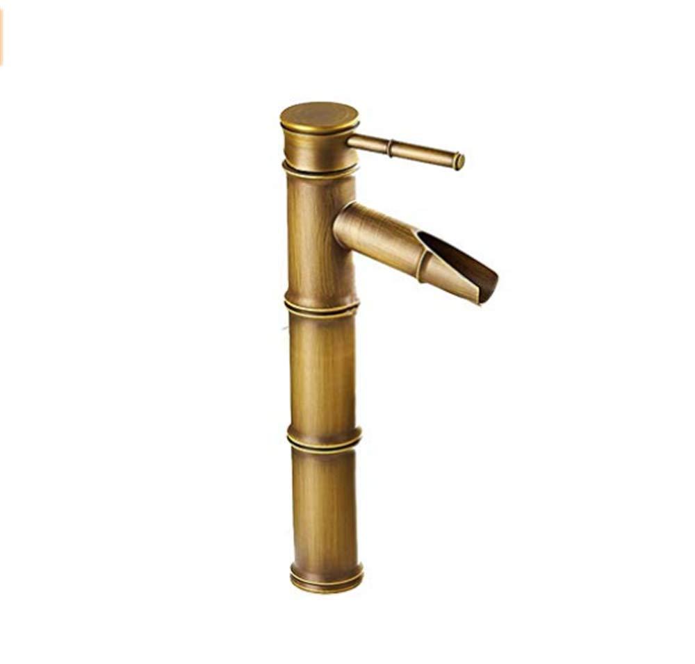 Edelstahl Einhand Mischer Einhebel  Bronze Voll Kupfer Bambus Deck Montiert Küche Badezimmer Hotel Waschbecken Wasserhahn
