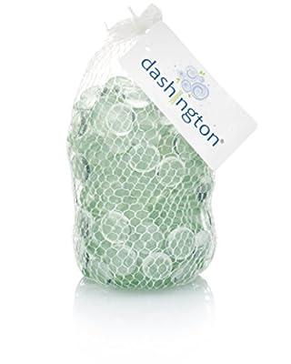 Dashington Flat Clear Marbles, Pebbles (2.5 Pound Bag) for Vase Filler, Table Scatter, Aquarium Decor, Gravel Accents 250-300 Marbles Per Bag