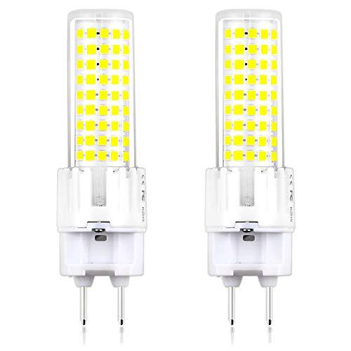 (G12 LED Light Bulbs 15 Watt LED G12 Bulb Warm White, 150W G12 Incandescent Replacement Lights, Klarlight G12 Base LED Corn Light Bulb for Street, Warehouse, Garage Lighting)