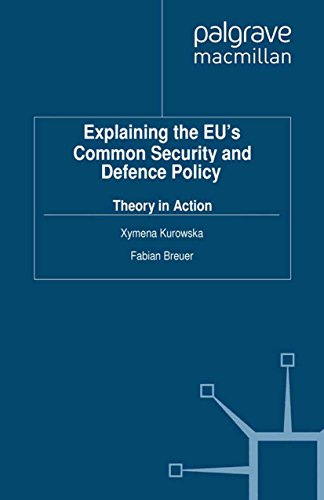 Download Explaining the EU's Common Security and Defence Policy: Theory in Action (Palgrave Studies in European Union Politics) Pdf