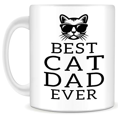 Best Cat Dad Ever Mug - Quality 11oz Coffee Mug, Perfect Gift for Cat Lovers and Cat Dads, Great for Father
