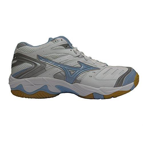 Mizuno Women's Volleyball Shoes White Bianche/Azzurre/Grigie 8 SAUqRL