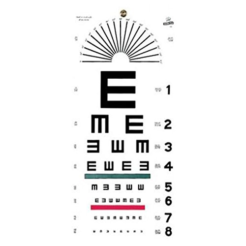 WP000-1241 1241 1241 Chart Visual Acuity Snellen 22x11'' Universal Ea From Graham-Field/Everest &Jennings