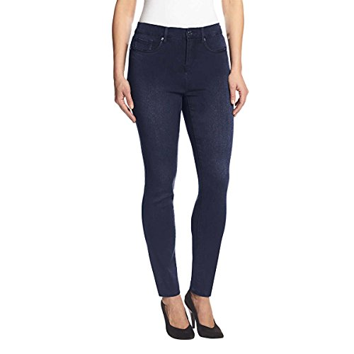 Gloria Vanderbilt Women's Ultra Stretch Slimming Jeans, Blue, 20 Average Plus
