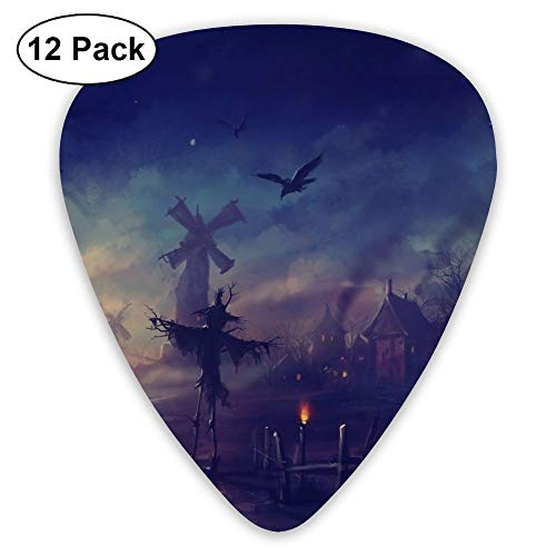 (12-Pack Fashion Classic Electric Guitar Picks Plectrums Scary Halloween Instrument Standard Bass Guitarist)
