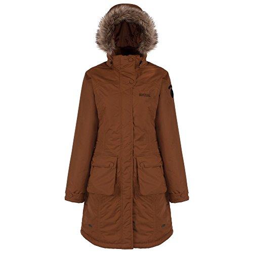Regatta - Abrigo impermeable modelo Lumexia para mujer Marrón