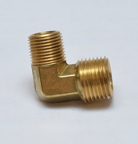 FasParts Brass 90 Degree L Male Pipe Elbow Fitting 1/2